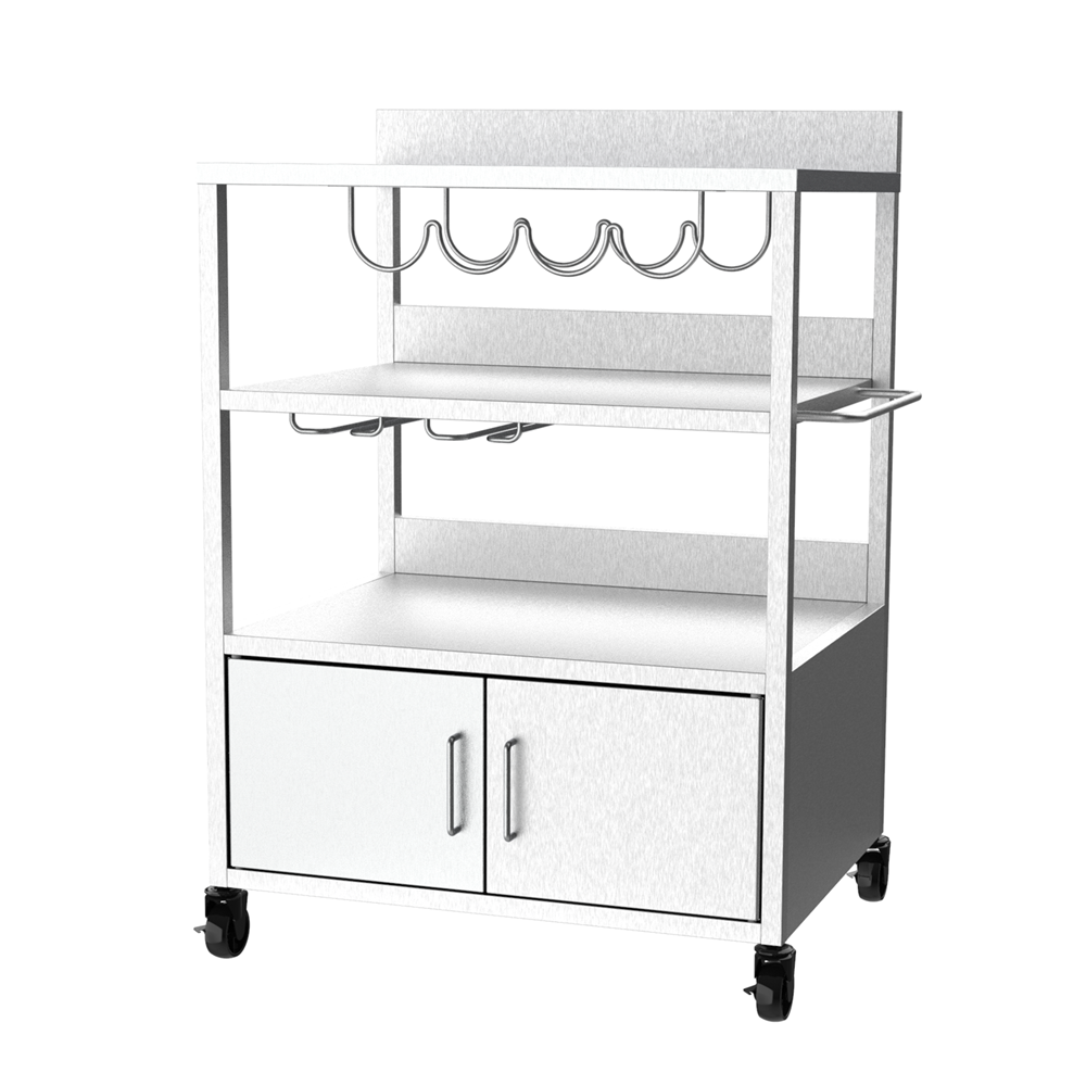 Stainless Steel Burner Plancha Trolley