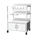 Stainless Steel Plancha Trolley with Cabinet