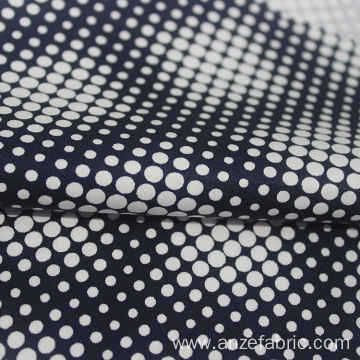 Black white polka dot 100% cotton sateen fabric