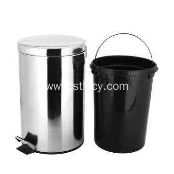 410 Metal Pedal Stainless Steel Garbage Can