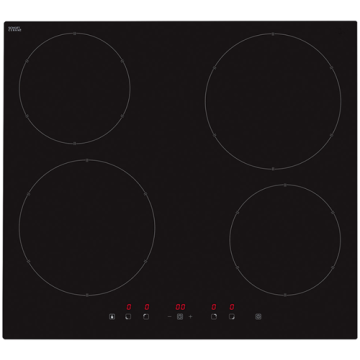 Induction Cooking Plate Black Glass Ceramic