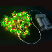 Christmas led fairy light with leaf