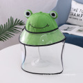 Anti-droplet Hat for Children Green Frog