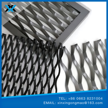 Titanium expanded diamond wire mesh for aerospace