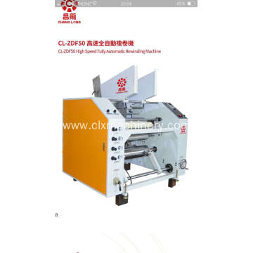High Speed Auto Food Roll Stretch Film Rewinder