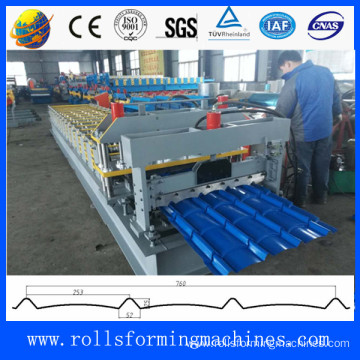New type steel sheet glazed tile roll forming machine