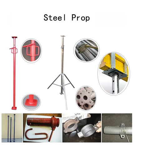 Adjustable Mechanical Prop jack Scaffolding and Steel Prop Building Construction Steel Support Prop for Construction Project