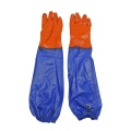 orange granular PVC raincoat with sleeve gloves 60cm