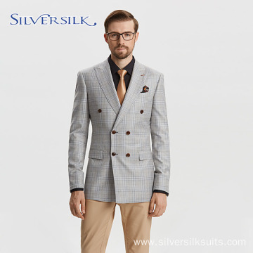 Italian V Neck Double Breasted Trendy Mens Suits