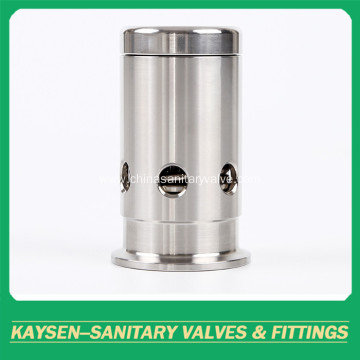 Sanitary vacuum air release breath valves