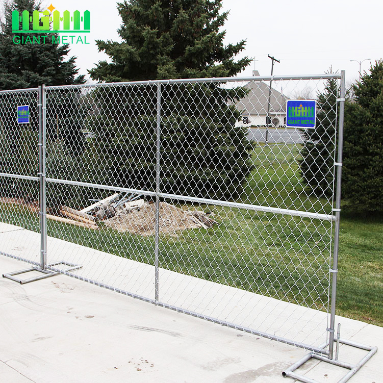 chain link portable panels temporary fences for construction