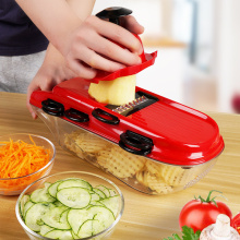10pcs / Set Manual Potato Slicer Vegetable Fruit Fruit Stainless Steel Mandoline Onion Peeler Carrot Grater Dicer Kitchen Tools