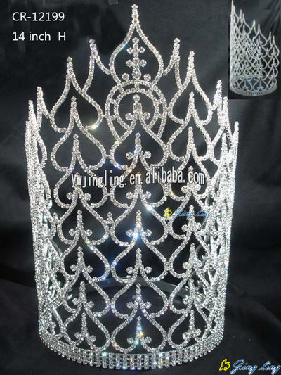 Large special tiara pageant crown CR-12199
