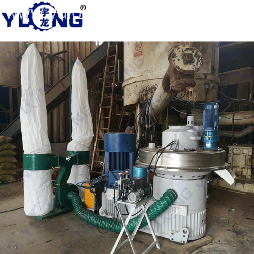 YULONG XGJ560 biomass rubber wood pellet machine