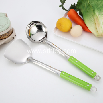 2 Piece Stainless Steel Soup Ladle And Spatula