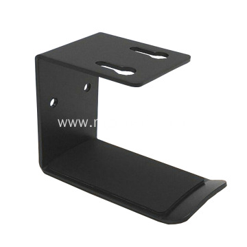 Black Powder Coated Metal Under Desk Headphone Holder Bracket