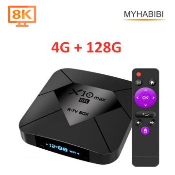 2021 New Model X10 MAX 8K Android 9.0 Tv Box Amlogic S905X3 Dual WIFI LED Display Smart HDR H.265 IPTV X10max 8K Set Top Box