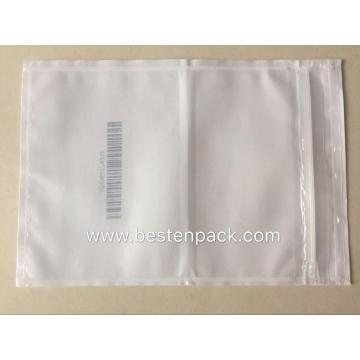 Bar Code Packing List Envelope With Zipper