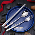304 Stainless Steel Travel Cutlery Spoon Fork Chopsticks