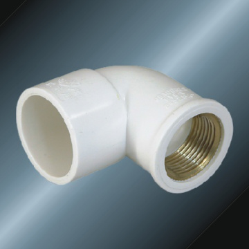 DinPn10 Water Supply Upvc Female Elbow 90°Brass White