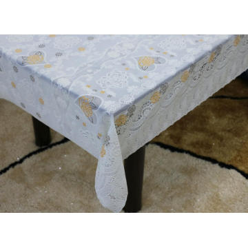 Printed pvc lace tablecloth by roll damask