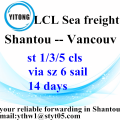LCL consolidate by sea from Shantou to Vancouver