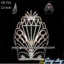 12 Inch Wholesale Rhinestone Pageant Crown For Sale