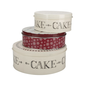Cookie Container Tin Cake Box