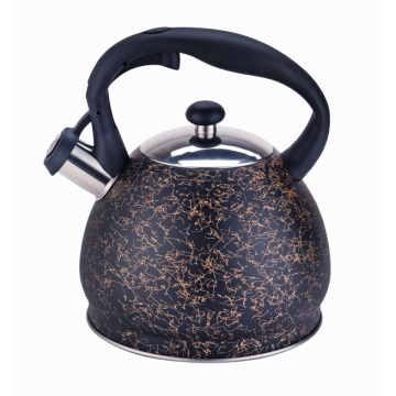 3L stainless steel whistling kettle with belly shape
