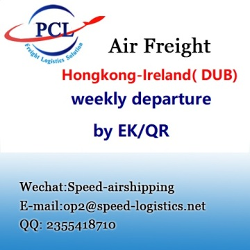 International air freight from Hongkong to Dublin Ireland ( DUB ) airport