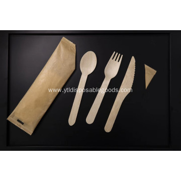 Wooden knife tableware set