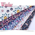 Printed Soft Knit Spandex Spun Polyester Stretch Fabric