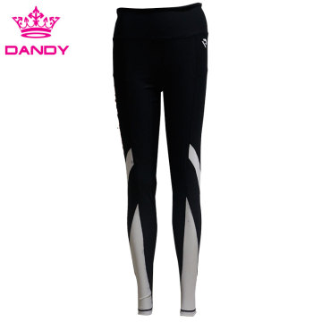 Custom black high waisted leggings