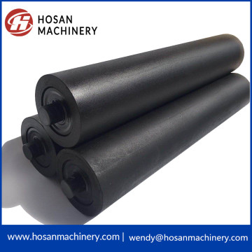 self cleaning composite conveyor roller for iron ore