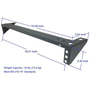 1U 35 Pounds Weight Loading Wall Mounted Bracket