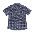 Men's woven rayon Short-Sleeve shirt