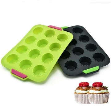 12 Cups Muffin Pan Tray with handle