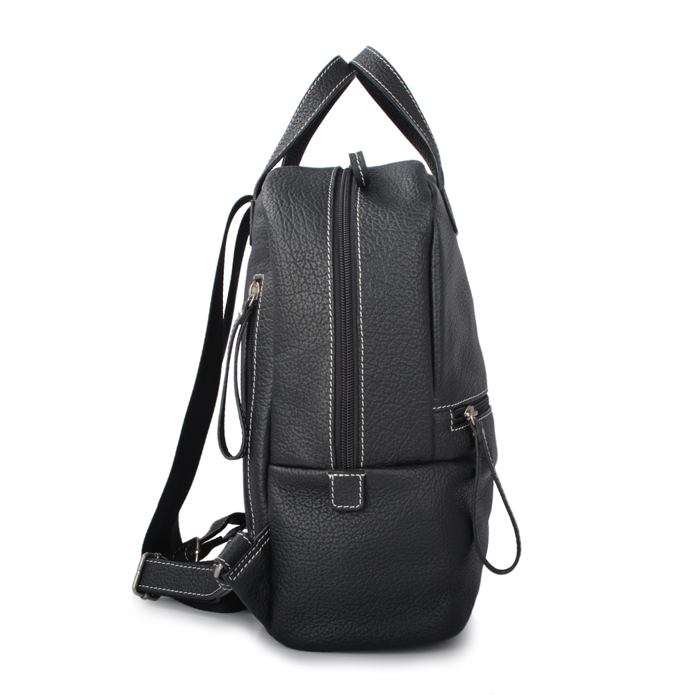 New design fashion Women leather black color backpack