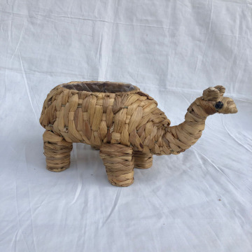 Seaweed woven camel decorative pot