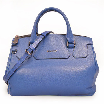 Blue Market Metallic Lining Tote in Pebble Leather