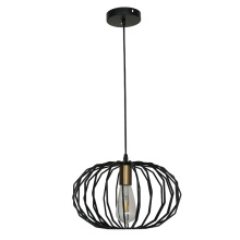 Hanging Lighting Fixture Iron oval Pendant Light