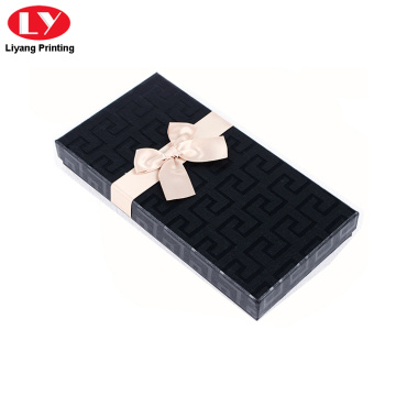 luxury paper packaging scarf box with bowknot