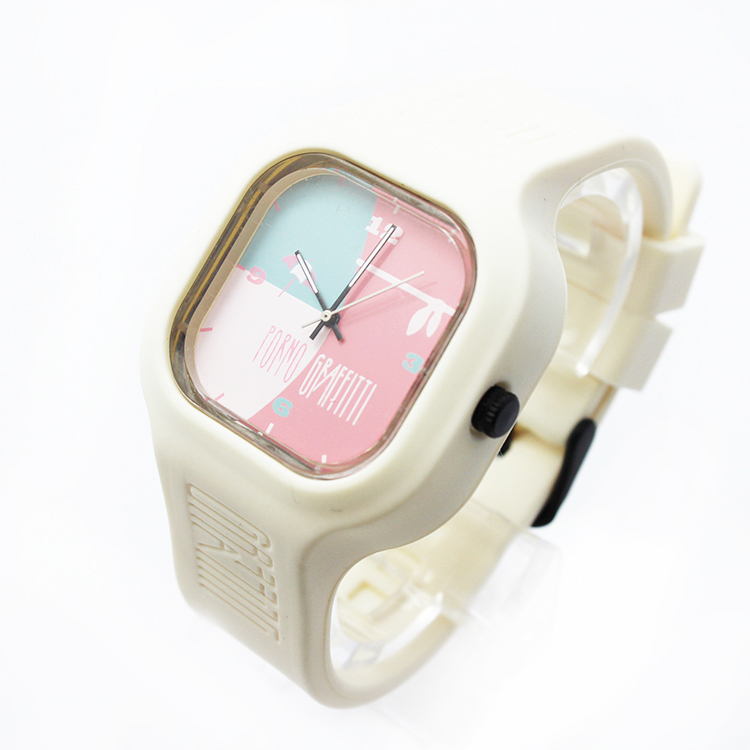 Custom jelly cute candy silicon watch