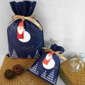 Christmas Medium Navy Non-woven Gift Bags