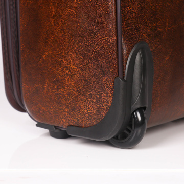 Super light weight pu trolley case cabin luggage