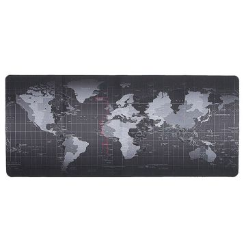 30*70cm World Map Mouse Pad Silicone Large Mousepad Rubber with Locking Edge Gaming Mouse Mat Keyboard Pad For Laptop PC Gamer
