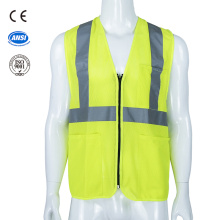 road safety reflective vest with pocket