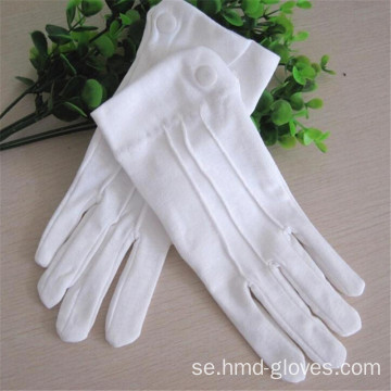 Uniform White Polyester Masonic Broderi Handskar
