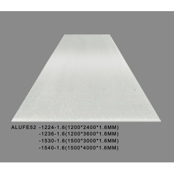 Metallic silver Aluminum Sheet Plate 1.6mm Thick 5052 H32 -1220*2440mm