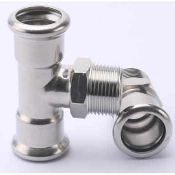 Stainless Steel Male Equal Tee Press Fitting